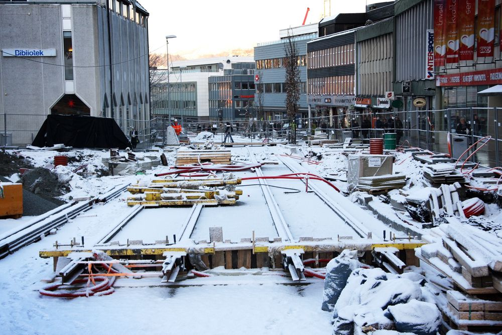 BYBANE: Fra Nesttun i Bergen blir Bybanen forlenget til Lagunen sommeren 2013.