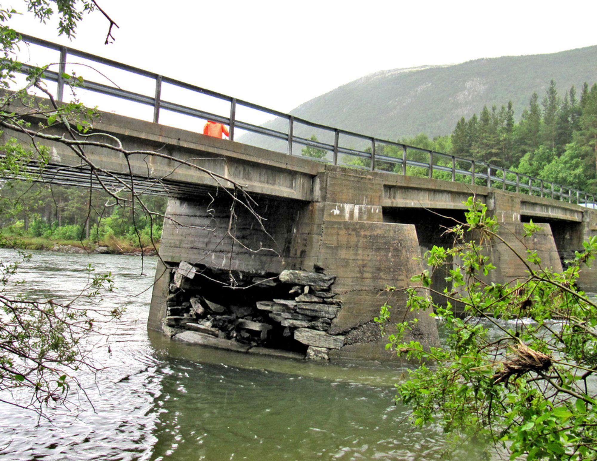 Skogabrua fikk hard medfart under pinseflommen i fjor. De som vil rive den og bygge en ny, må gi anbud innen 26. januar.