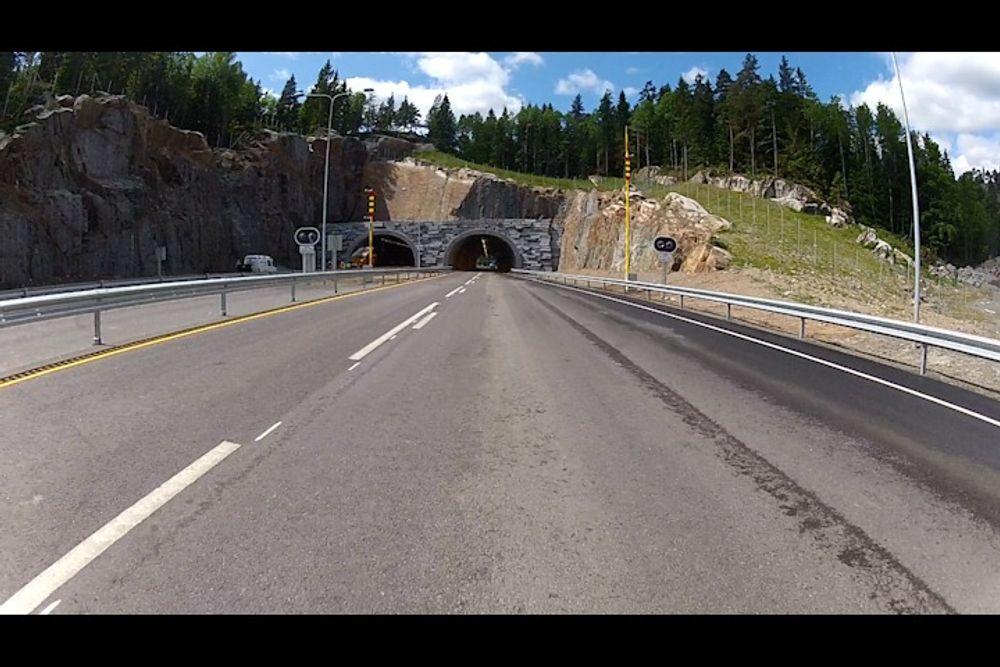 En av tunellene på den nye strekningen.