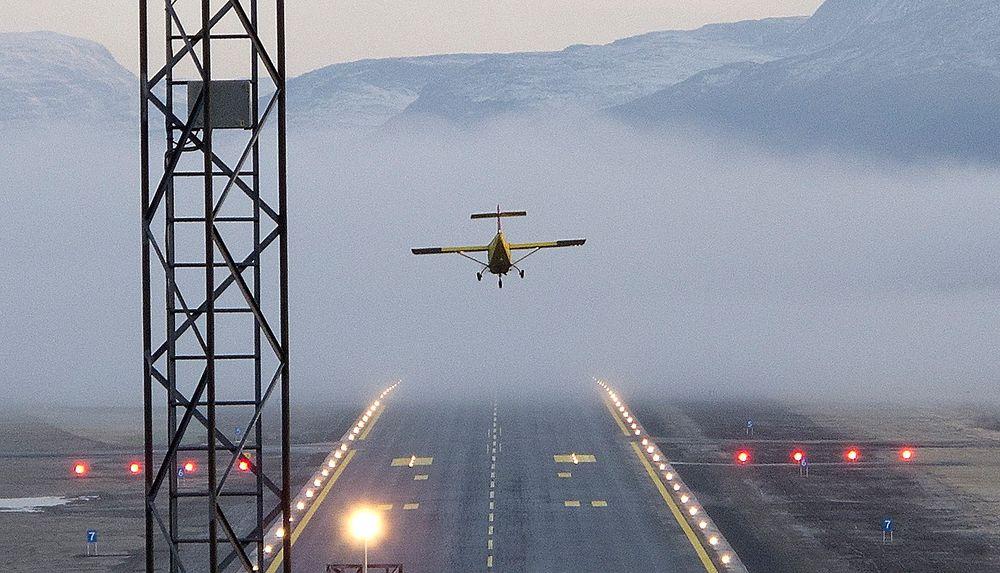 Saab Safari flyr inn på Bardufoss flystasjon/Saab Sarafi  lands at Bardufoss arirstation