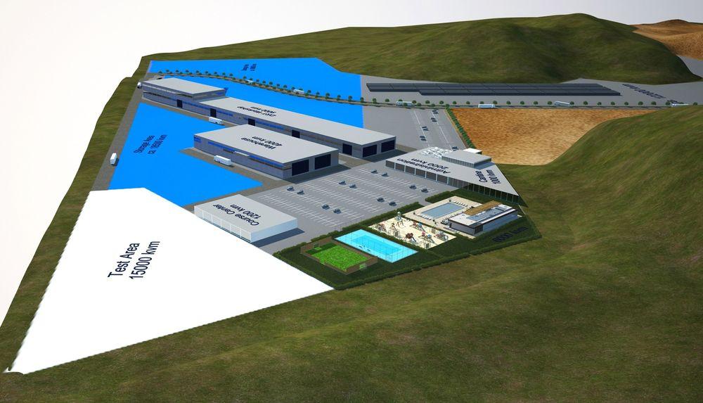 Aker Solutions' nye fabrikk i Brasil for fabrikasjon, montering og testing av hele borepakker for dypvann. Fabrikken på 335 000m2 bygges i Macaé på Brasils østkyst.