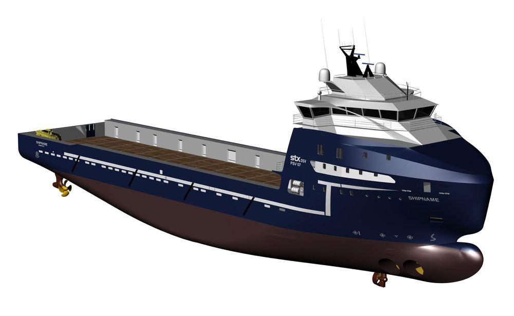 Statoil signerer kontrakter om å leie sju nye forsyningsfartøy. Dette designet skal bygges for Troms Offshore.