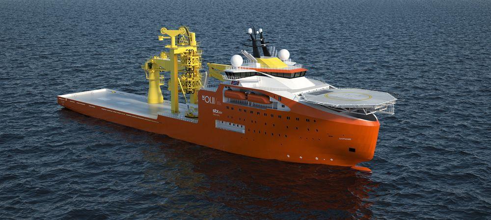 STOR: Solstad Offshore og Ocean Installer har bestilt et et avansert konstruksjonsskip (offshore subsea construction vessel) for operasjoner ned til 3.000 meters dyp. Fartøyet har plass til 140 personer ombord.Skipet er designet og bygges av STX OSV.