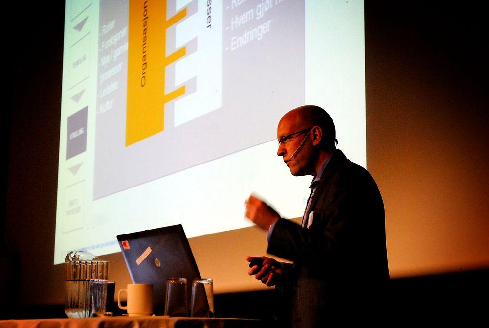 rådgiver Christopher Wiig i Hartmark Consulting på Energi Norges AMS-seminar på Gardermoen