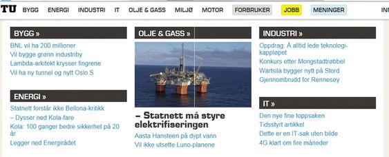 NYHETER: Slik er bransjenyheter sortert på ny tu.no-front.