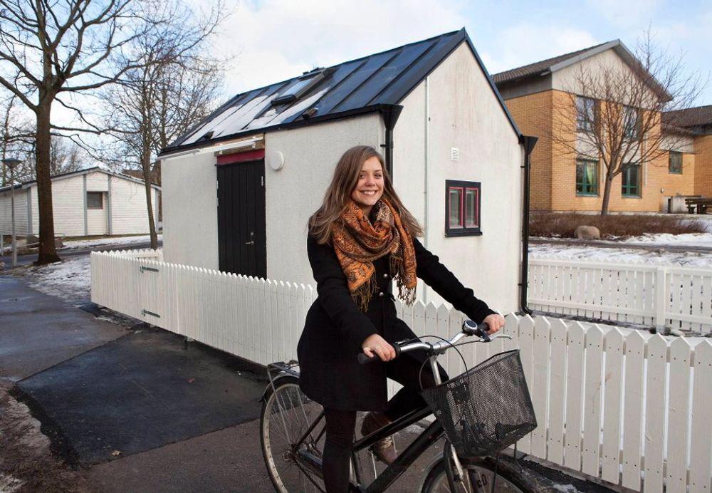 BOLIGDEBATT: Madeleine Forsberg skal flytte inn i boligen som er et konkret debattinnlegg.