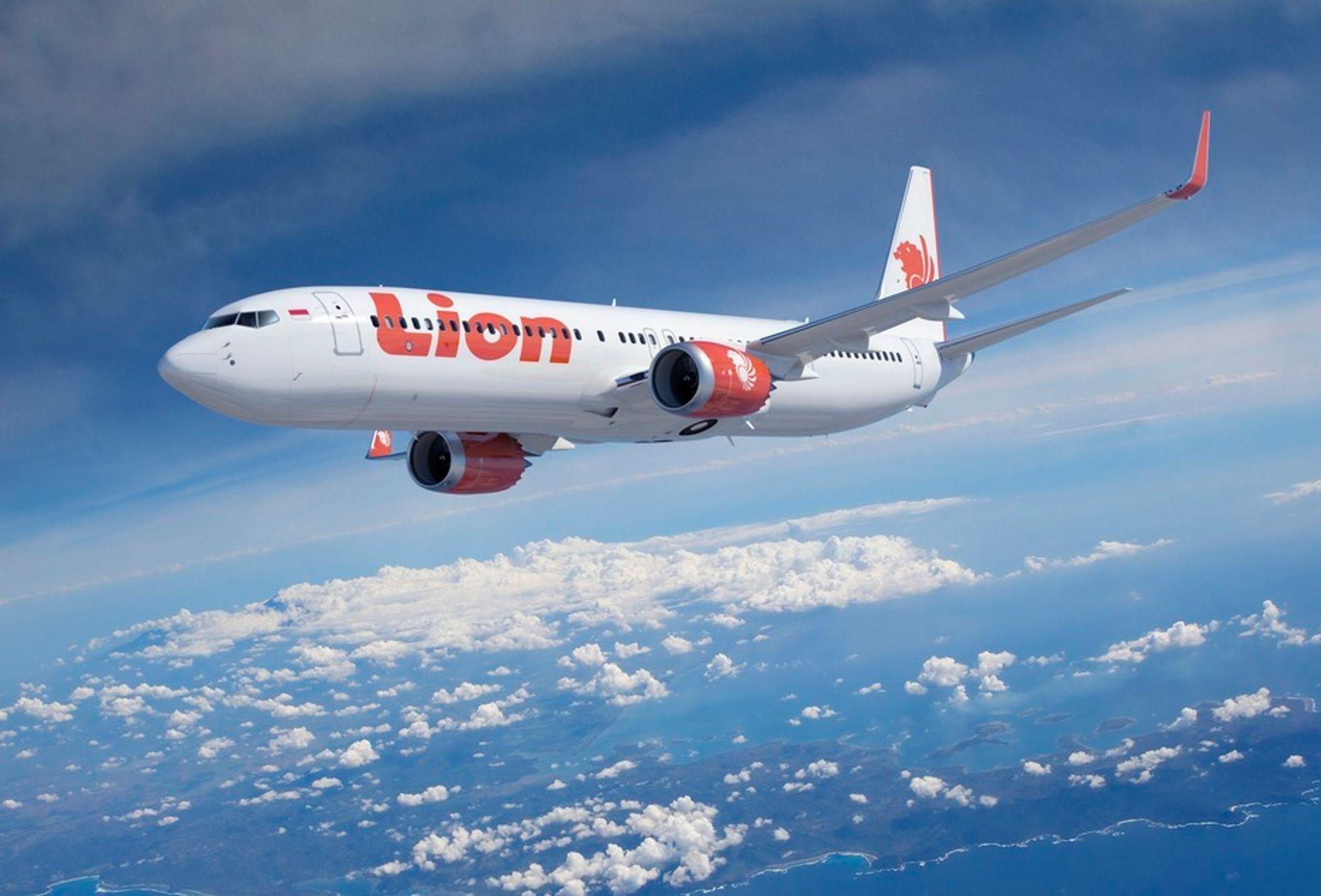 Boeing 737 Max i Lion Airs dekor. Flyselskapet har tilhold i Indonesia, verdens fjerde mest folkerike land.