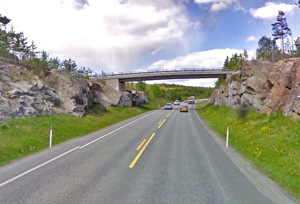 Denne overgangsbrua ligger omtrent midtveis mellom Skjøl og Darbu. Den har langt nok spenn til at E 134 kan utvides til 12,3 meters bredde. Dermed blir det ingen åpning i midtrekkverket.