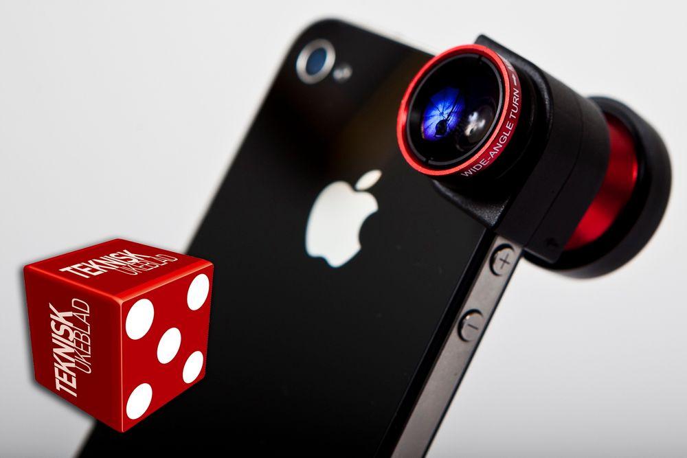 OLLOCLIP TIL IPHONE: Objektivet veier bare 19 gram, og gir deg tre ulike linser.