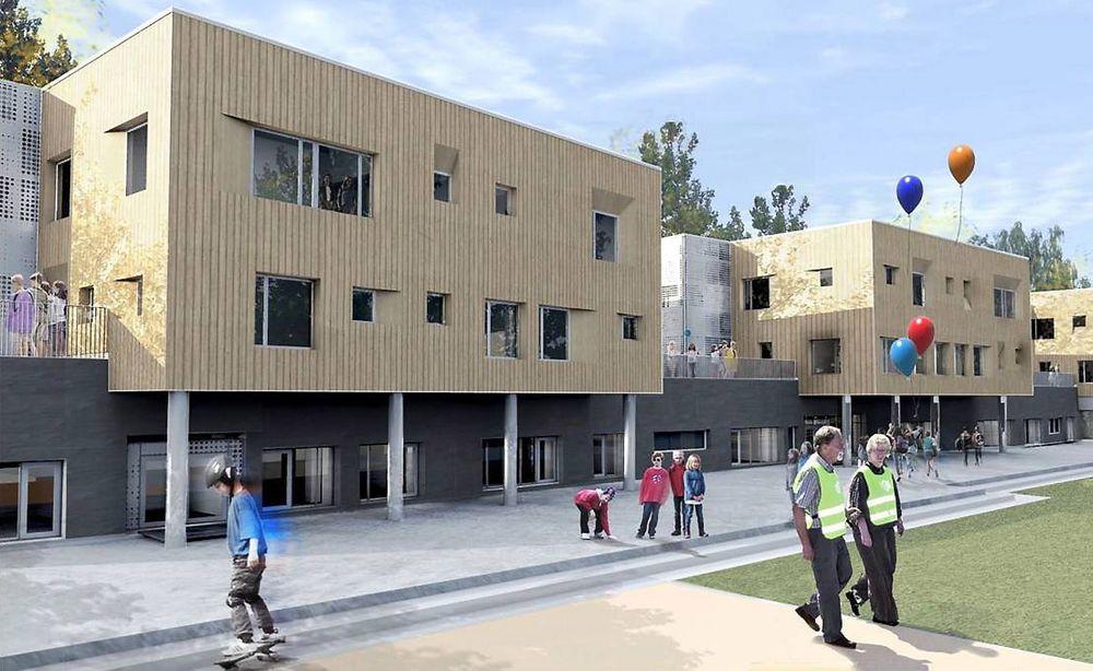 MILJØ: Bjørnsletta skole blir passihus, og miljø står i sentrum.