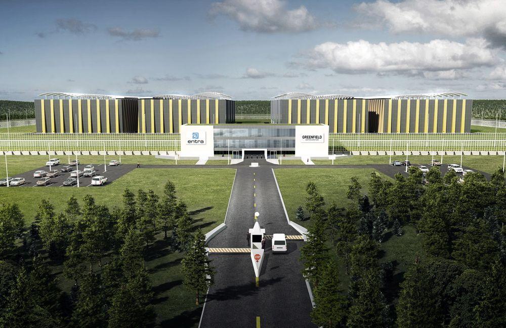 BYGGER: Nå skal Greenfield datasenter realiseres på Fet i Akershus - med Evry som første kunde.