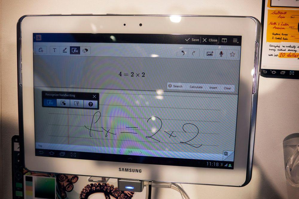 KAN MATTE:Samsungs nye pennbaserte nettbrett Galaxy Note 10.1 skjønner matematikk.