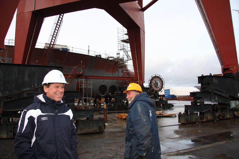 TIL BRASIL: Kleven Maritime-sjef Ståle Rasmussen vil drive service på offshoreskip i Brasil. Flere av dem er bygget i Ulsteinvik.