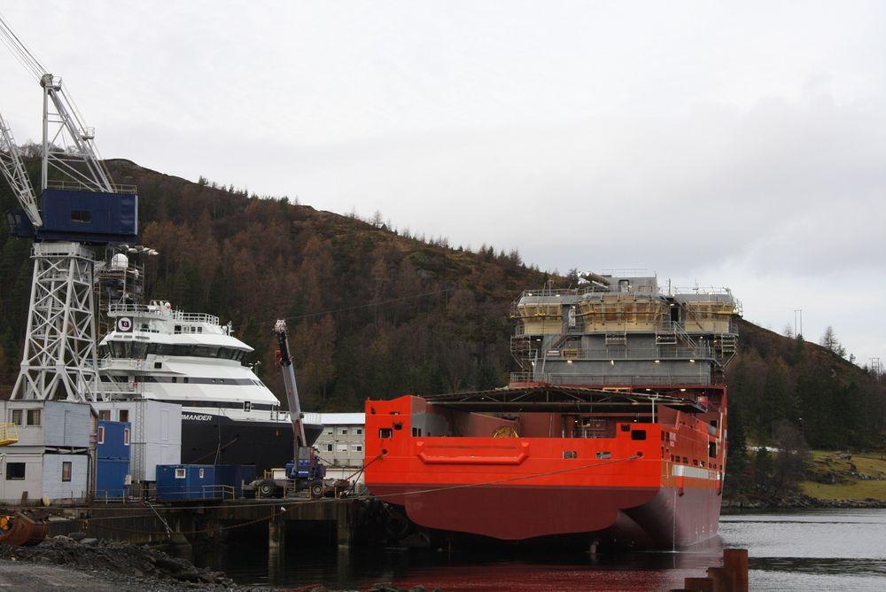 STØTTEFRITT: Norske skipsbyggere får ikke en krone i statsstøtte, og vil heller ikke få det med de nye retningslinjene i EU/EØS-området.