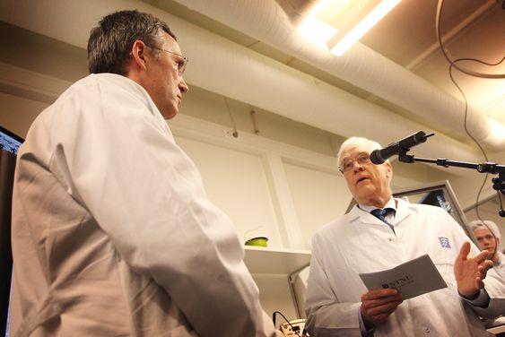 NTNU-rektor Torbjørn Digernes ba statsministeren om mer penger til forskningsinfrastruktur.