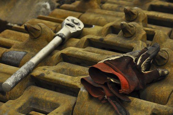 REPARERES: I verkstedet til Gruve 7 kan alt repareres. Foto: Fredrik Drevon