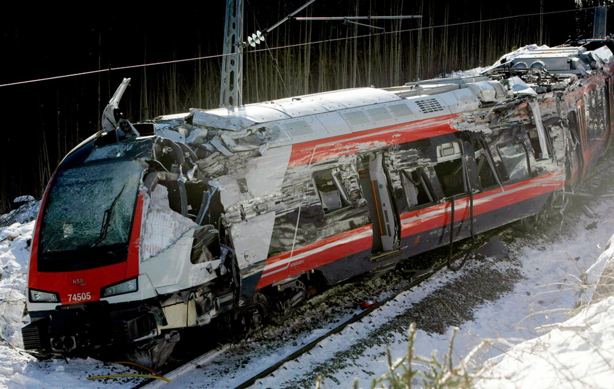 Havarikommisjonen har ikke funnet feil ved Flirt-toget som sporet av ved Nykirke i Vestfold i februar.