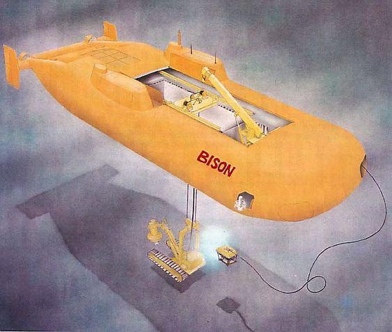 KATAMARAN: Ubåtkonseptet Bison for subseaoperasjoner, presentert av NTNU-professor Maurice F. White.