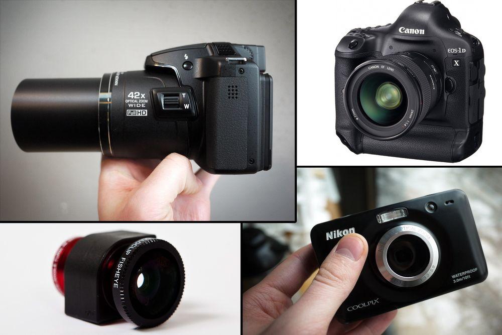 NYHETER I ALLE FORMATER: Fra et 70 dollars iPhone-objektiv til proffkameraer i 50.000 kroners-klassen.