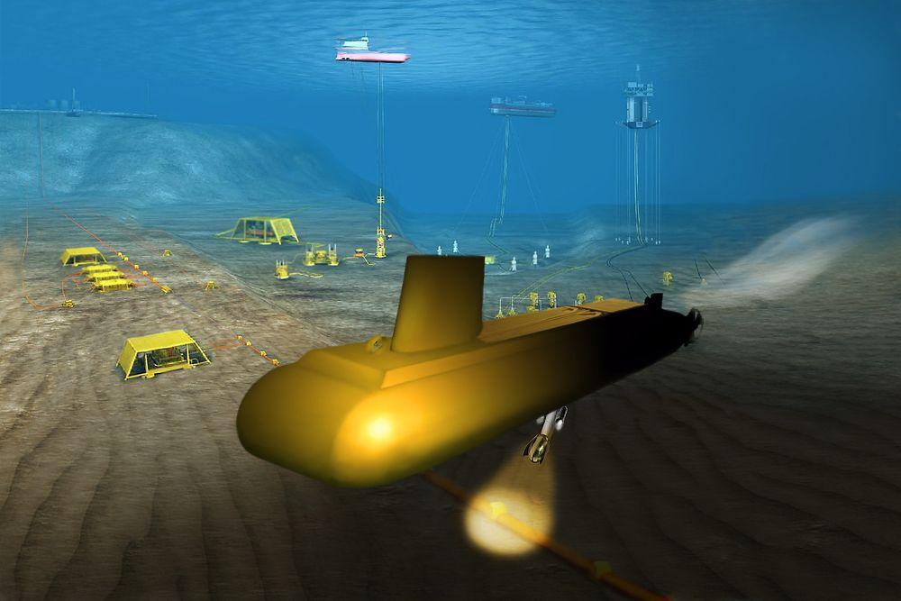 UNDER ISEN: Framtidas subseautbygginger i værharde strøk eller under polisen kan betjenes av ubåter.