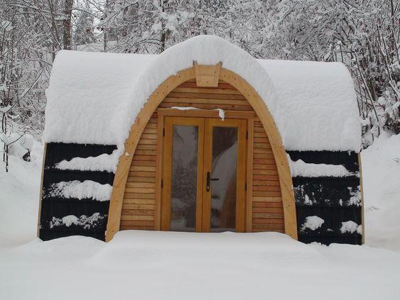 VINTERPOD: Minihuset skal ifølge produsenten tåle en skikkelig vinter.