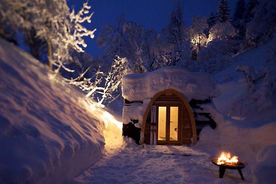 MINILUKSUS: Det kan virke som man trenger ikke en gigantisk hytte for å oppnå hyttesteming.