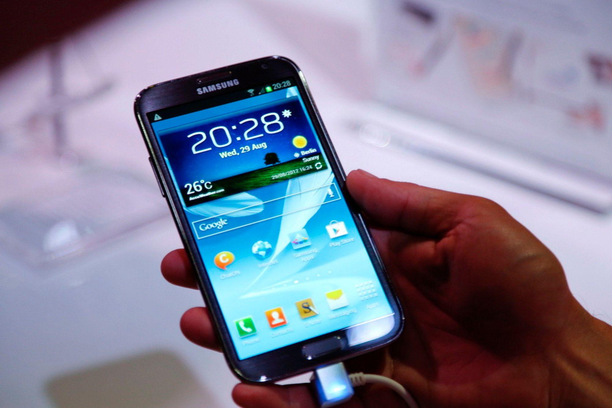Storbukken Bruse: Galaxy Note II er på skarve 5,5 tommer. Etter den kommer en som er mye større og sterkere.