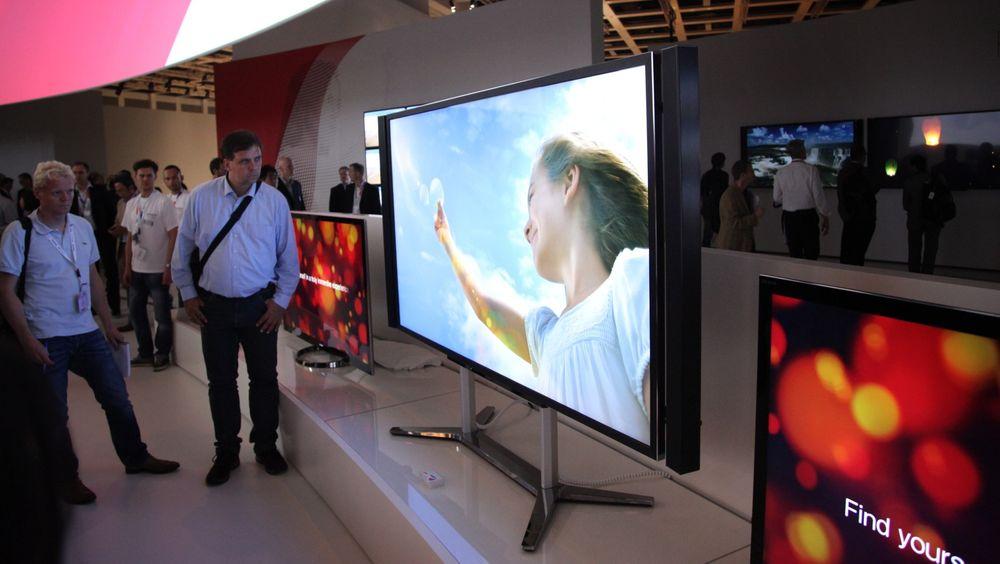 Sony lanserer en 84 tommer stor TV med 4K-oppløsning. TV-produsentene tror UltraHøy Definisjon kan gi god fortjeneste.