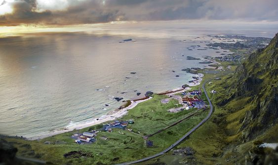 IDYLLISKE OMGIVELSER: Andøya rakettskytefelt.