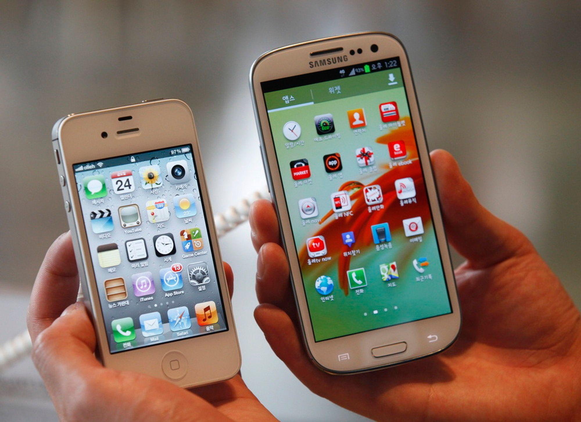 DOMMEN ER KLAR: En domstol i USA har slått fast at Samsung har kopiert Apple.