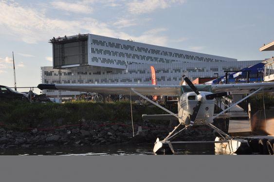 Det nye Statoil-bygget på Fornebu er ferdig i september 2012.