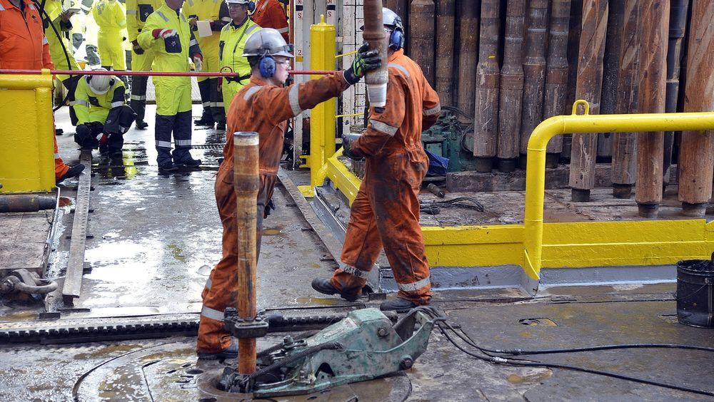 Det norske oljeselskap melder om gode resultater på avgrensningsboring. Bildet er fra funnet av Geitungen-prospektet, nær Johan Sverdrup, og riggen Ocean Vanguard.