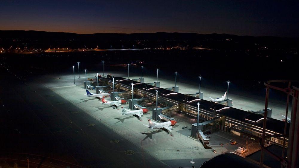 Oslo Lufthavn Gardermoen OSL flyoppstilling