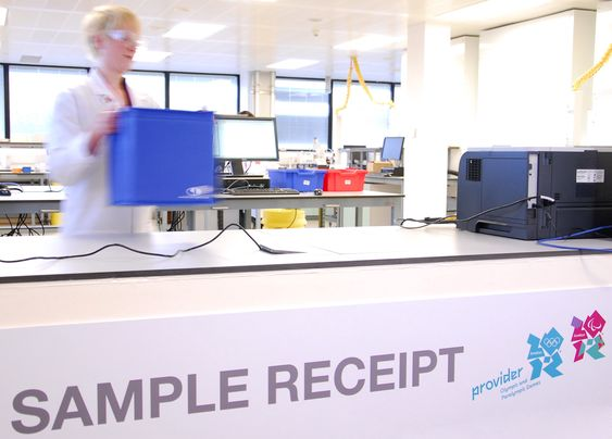 London 2012 unveil Anti-Doping Laboratory with laboratory service providers GlaxoSmithKline (GSK) and laboratory operators King?s College London London OL 2012 anti-doping laboratorium blir forskningssenter etter lekene.