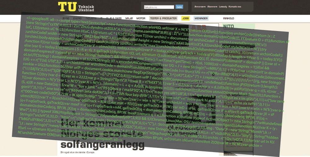 Feilen lå i vårt annonsesystem (OpenX) som ble angrepet via såkaltSQL injection. Annonsesystemet er nå byttet ut.