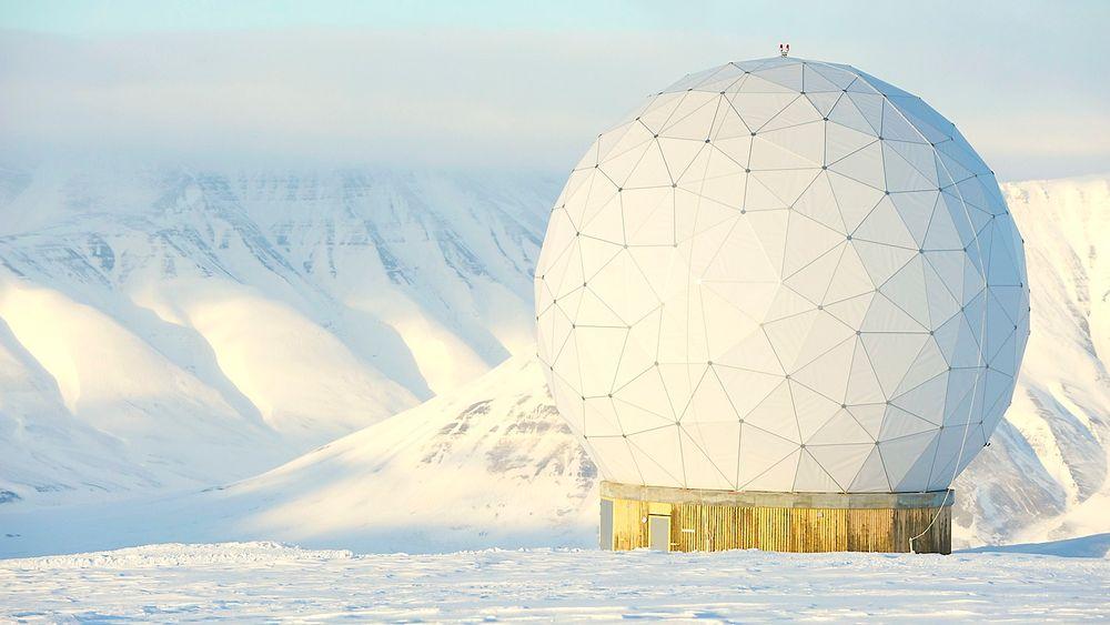 MOTTAK: Det er Svalsat-anlegget på Svalbard som skal motta og behandle data fra ESAs seks satelitter.
