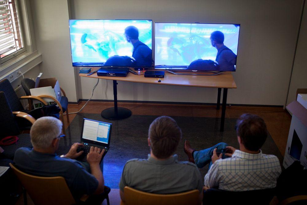 STOR FORSKJELL: Det er stor forskjell på det aktive og passive prinsippet for å se 3D-tv. Generelt gir aktiv bedre oppløsning, mens passiv gir et roligere bilde.