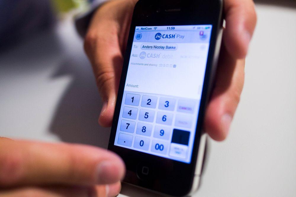 Slik ser mobilapplikasjonen ut.