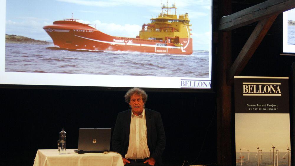 Frederic Hauge presenterte Bellonas nye prosjekt, Ocean Forest Project, i dag. FOTO: Bellona