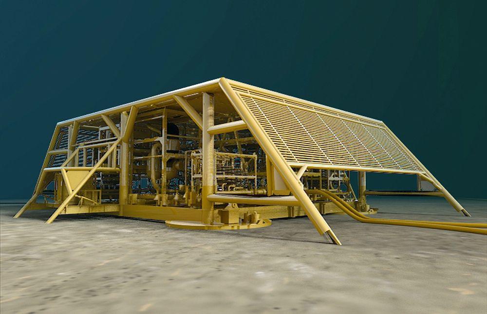 Gir store muligheter: Åsgard-modulen er den første av sitt slag, og er ifølge Statoil et kvantesprang på vei mot havbunnsfabrikken.