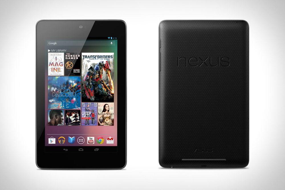 Nettbrett og smarttelefoner vil fortsette sin formidable vekst i 2013, men prisen folk ønsker å legge i et brett er blitt langt lavere, ifølge den amerikanske  elektronikkbransjeorganisasjonen CEA. Her Google Nexus 7.