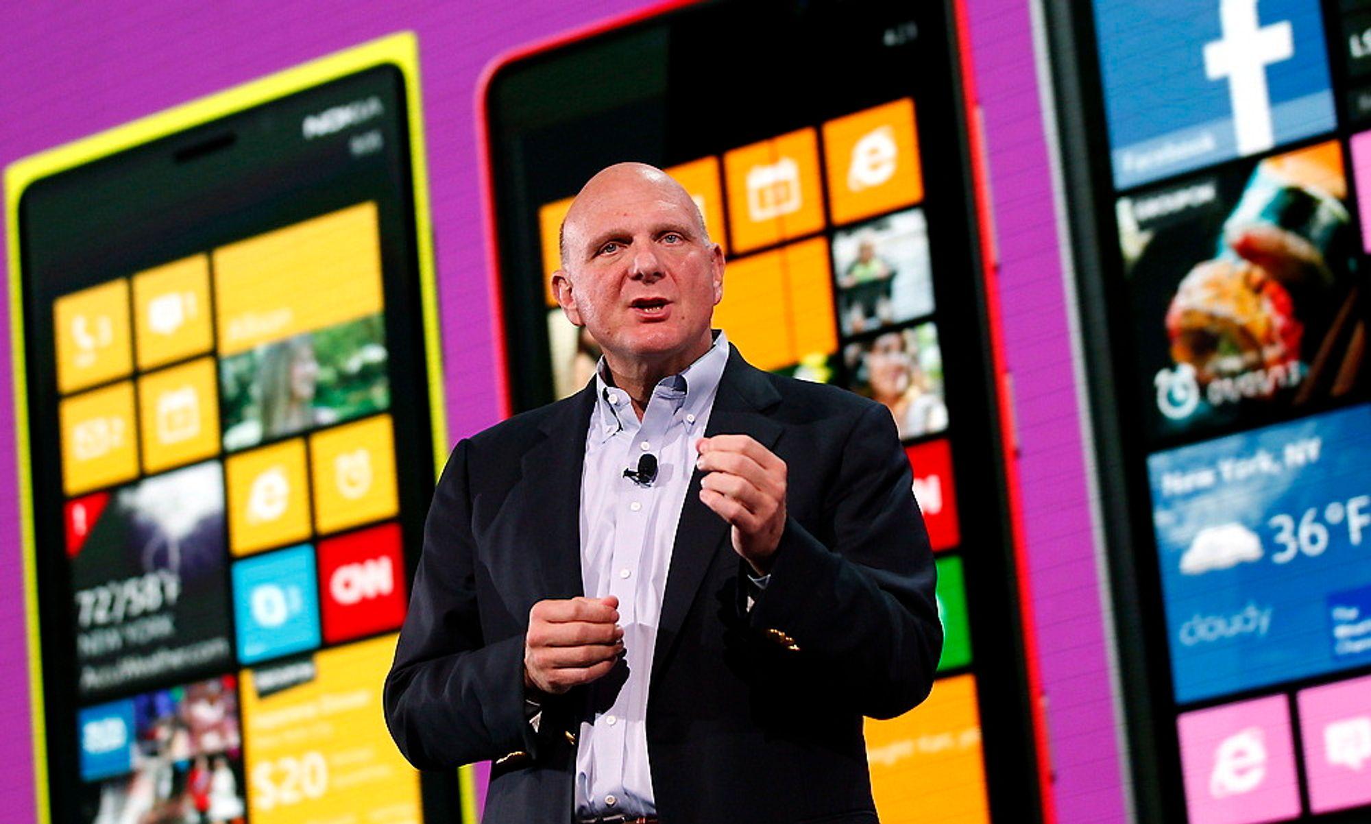 BLIR PENSJONIST: Microsofts CEO Steve Ballmer.