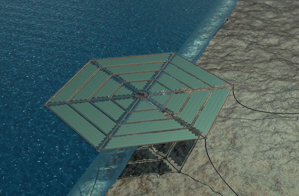 DNV Kema ser for seg et nettverk av flytende, sekskantformede solkraftverk.