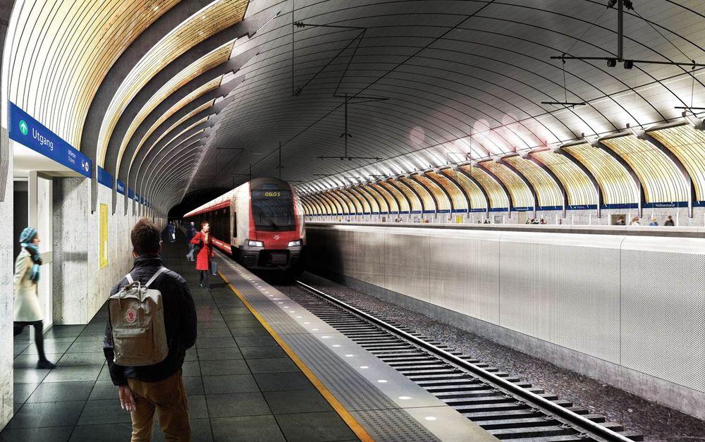 ENIGHET: Tre myndighetsnivåer er blitt enige om hvordan de skal dele på regningen for fjellheisen ned til nye Holmestrand stasjon.