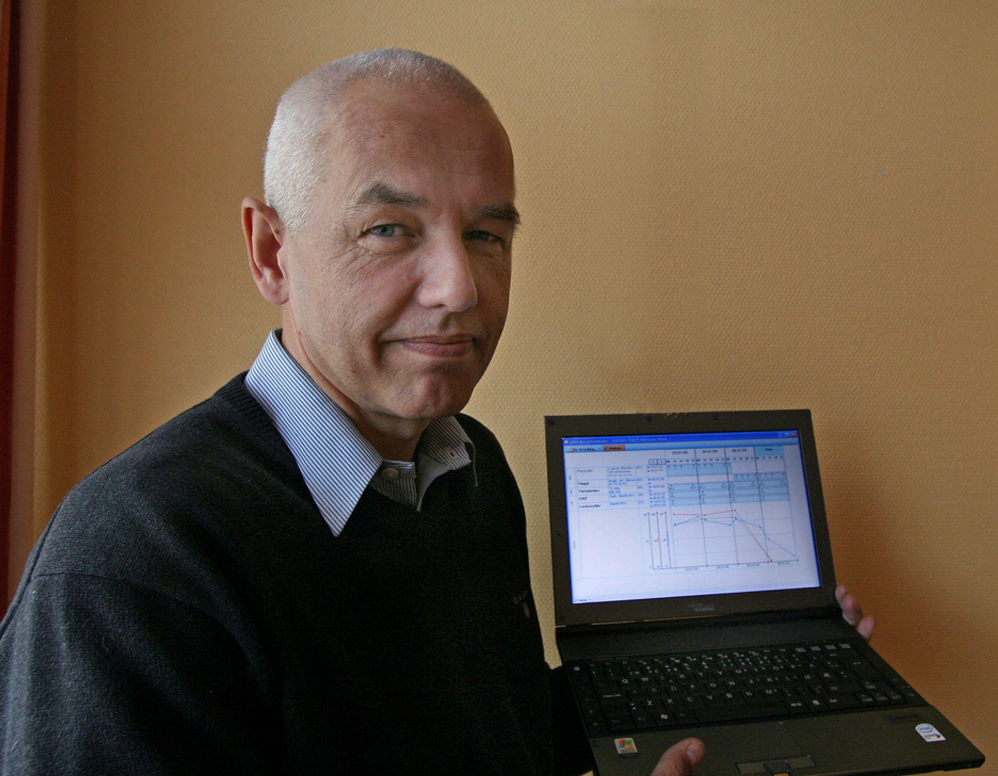 FORENKLER:Adm. direktør i DIPS Tor Arne Viksjø vil forbedre kommunikasjonen mellom sykehus og pasient