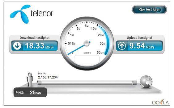 Kjappt: Telenors blodferske LTE-nett viser gode takter, men har et stykke opp til lillebror.