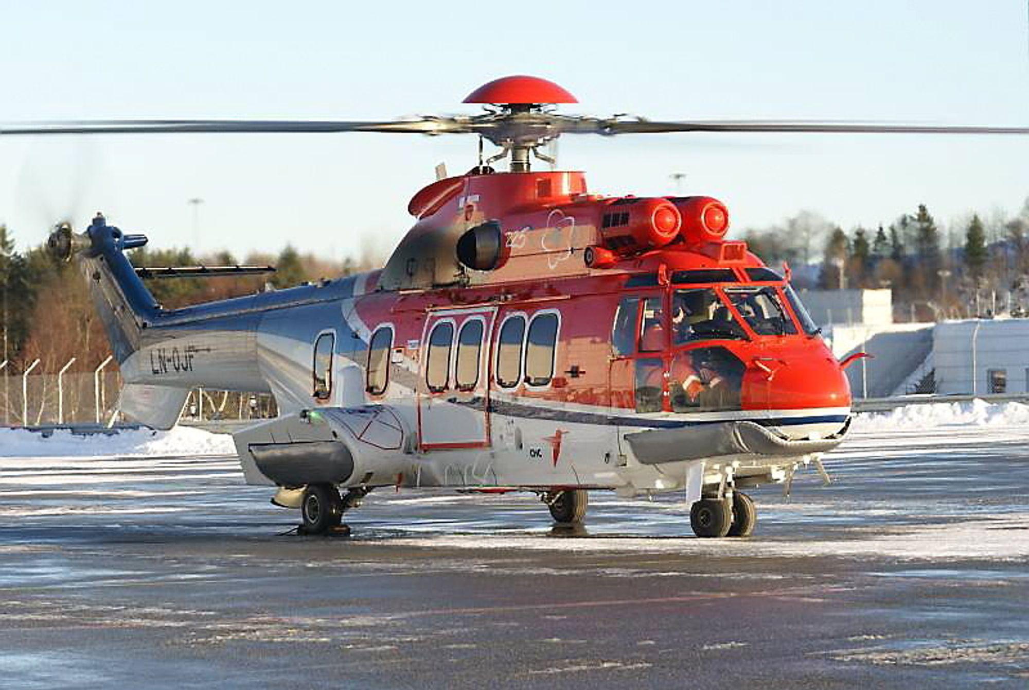 Det var et Eurocopter EC225 av denne typen som nødlandet sør for Shetland mandag ettermiddag.