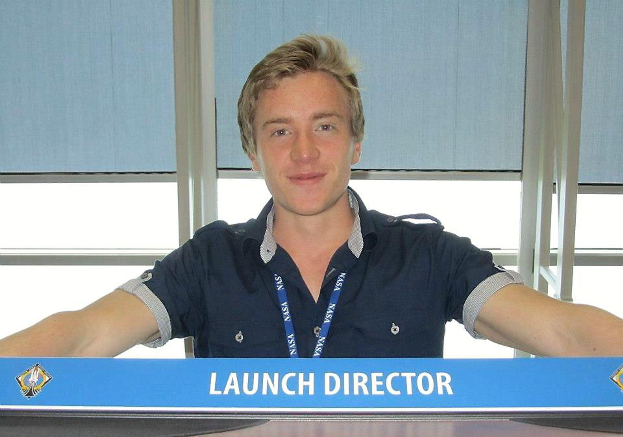 Fredrik Aarrestad studerer økonomi og administrasjon, men er brennende engasjert i romfart. Etter sommertur til Nasas romsenter har interessen bare blitt større.