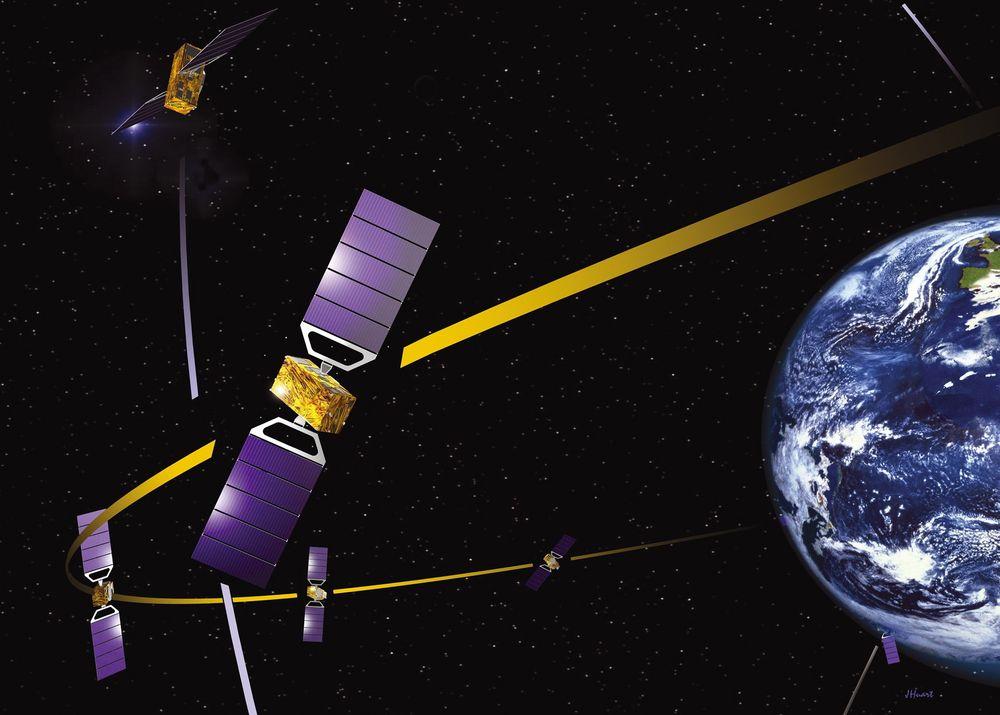 GALILEO: Kan gjøre Europa uavhengig av GPS og Glonass. Illustrasjon: ESA