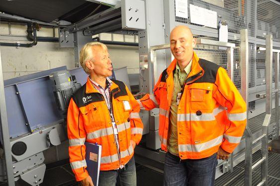 Per Viggo Andersen og Jan Fagernes, Oslo Lufthavn Gardermoen, bagasjesystem